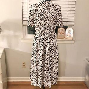 NWT Ann Taylor Shadow Spot midi Dress